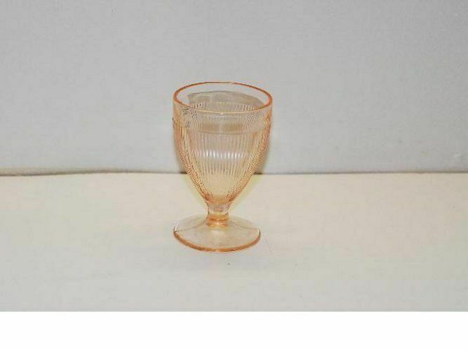 12 Jeannette Homespun Pink Footed Juice Tumbler Tumblers