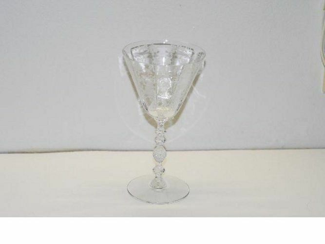 2 Cambridge DIANE 7.25 Inch WATER GOBLET GOBLETS LOT14552