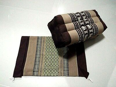 Pillow Thai Cotton  Free Cover Pillow Bolster Cushion Headrest Meditation Kapok  for sale  Shipping to Canada