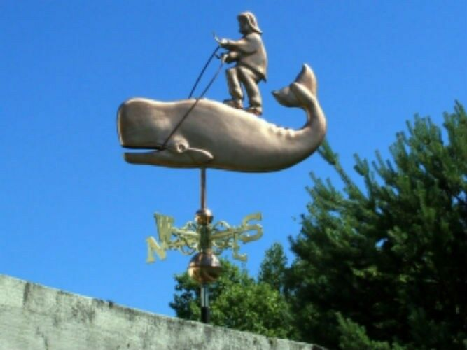 "COPPER   "" MOBY DICK WHALE "" WEATHERVANE  MADE IN USA #149"