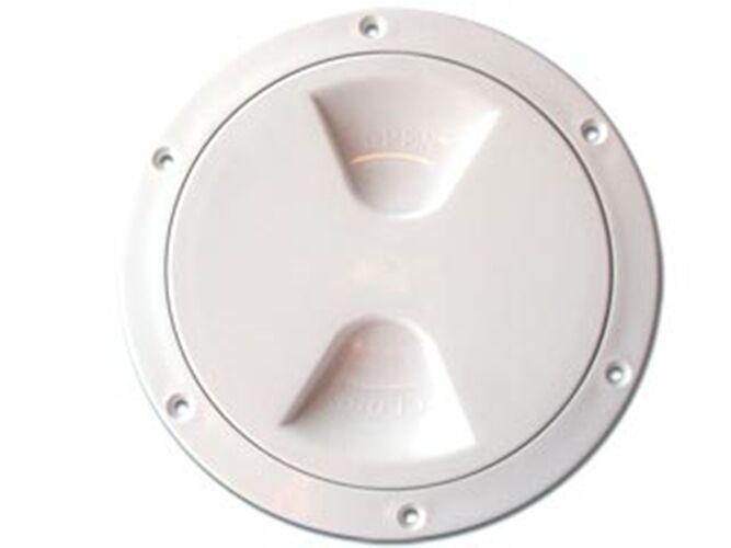 "NAUTOS 13.571 - PLASTIC DECK PLATE - INSIDE DIAMETER 8"" - UV RESISTANT"