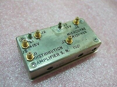 Microdyne Model Lm 101-492 Distribution Amplifier