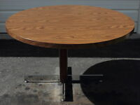 "48"" ROUND COMMERCIAL PEDESTAL TABLE."