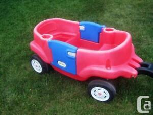 Little Tykes Child Kids 2x Door Wagon 4 Wheel Seat Handle Fold