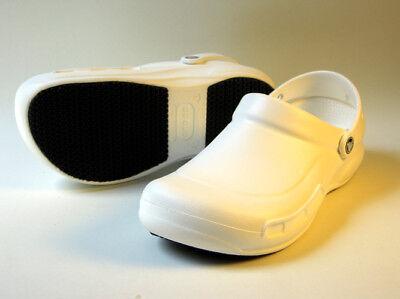 CLOSEOUT Crocs Bistro Slip Resistant Work Clogs White Men Size M7/W9 M11