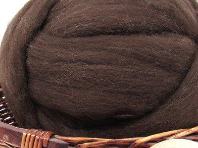 Brown Merino Wool Top Roving - Undyed Natural Spinning Fiber / 1oz - Merino Wool Fiber