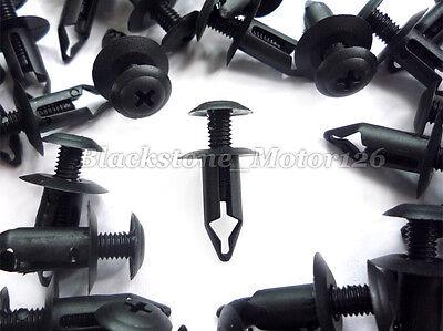 30pcs Cowl Panel Clip Engine Splash Shield Retainer Black Fits For Nissan For GM