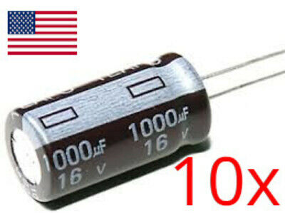 10pcs 1000uf 16v Electrolytic Capacitors