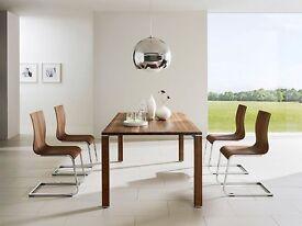 4 x mid century modern walnut retro chairs