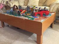 Train Table with Train Tracks and Accessories