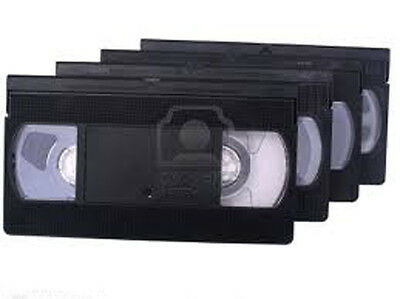 4 (Four)  VHS VCR VIDEO TAPES TRANSFERRED TO DVD ~ Transfer / Copy Service