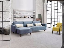 BERGEN Corner Sofa Scandinavian Style Easy to clean and Waterproof Fabric We can Delivered
