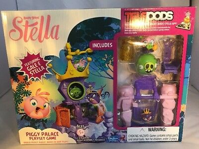 Angry Birds Stella Telepods Piggy Palace Playset Game by Hasbro NIB