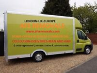 Urgent Home & Office Removal Services House Waste Clearance Cheap Man & Van UK & Europe