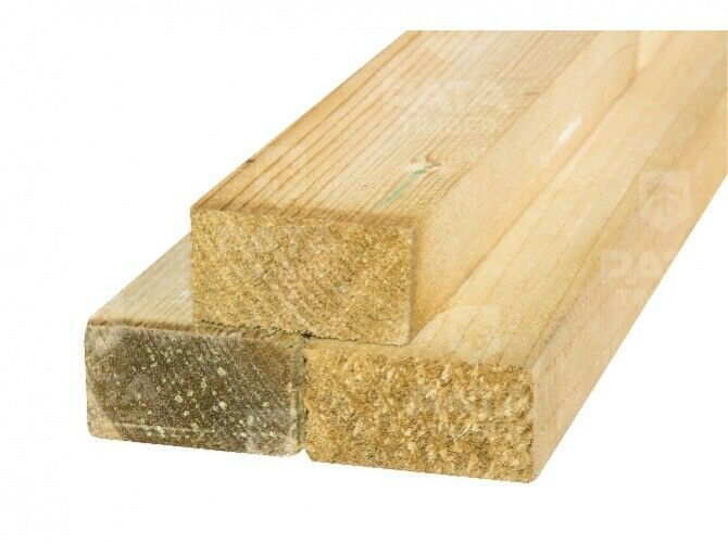 Sawn Green Treated Timber Various Sizes and Length   in ...
