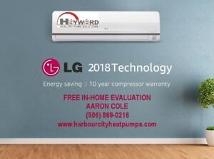LG Mini Split Heat Pump - Starting at $40 / Month