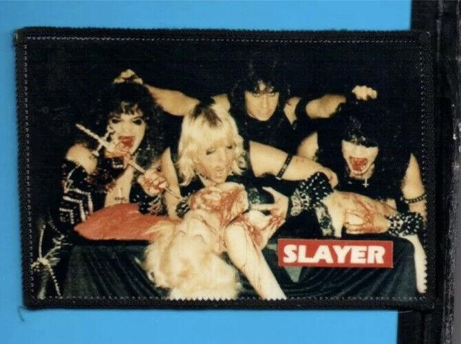 SLAYER *VERY RARE* ORIGINAL VINTAGE 1980'S PATCH CLOTH BACK PATCH METAL 80'S