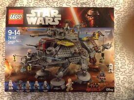 LEGO Star Wars Captain Rex's AT-TE 75157 unopened. BNIB