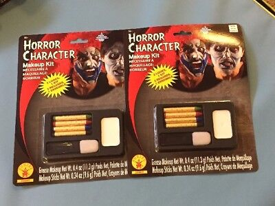 Horror Makeup Kit Zombie Clown Fancy Dress Up Halloween Adult Costume 2 Pack - Adult Halloween Makeup