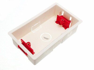 BOX 50 DOUBLE HOLLOW ELECTRIC BACK BOX 2 GANG 35MM M1818