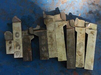 9pc 34 Metal Lathe Tool Bit Lot Machinist Turning Tool Assortment