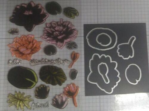 Hero Arts Water Lily Stamp And Die Set Layering Stamp Set - $12.00