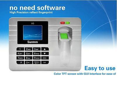 Fingerprint Recording Attendance Clock Time Card Machine 2.4 Tft Lcd Display