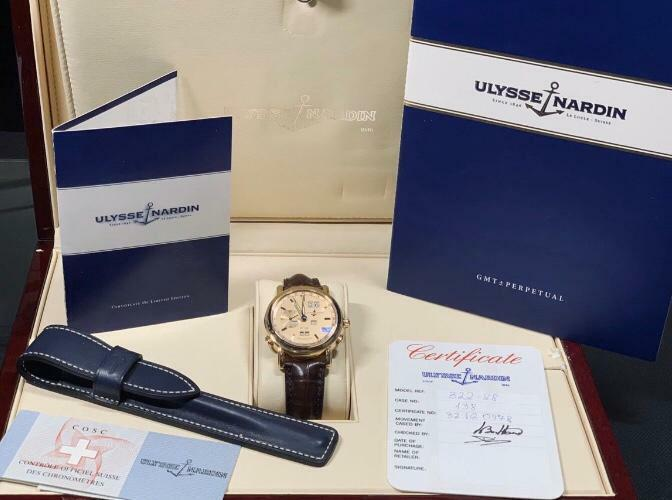 Ulysse Nardin GMT Perperual Copper Dial 18k Rose - watch picture 1