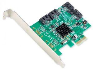 Syba SATA III 4 Port PCI-e X1 Controller Card With Low Profile Brackets