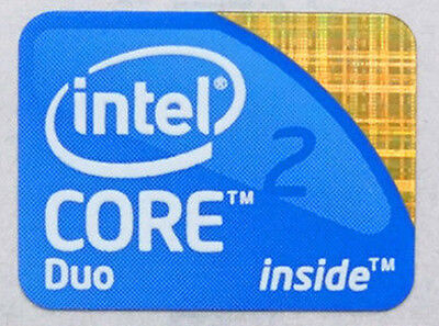 5pc Intel Core2Duo Core 2 Duo Best Quality Decals OEM Windows