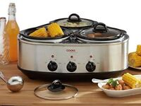 Cooks Professional Triple Slow Cooker - NEW/SEALED