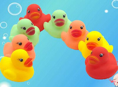 One Dozen (12) Colors Rubber Duck Duckie Baby Shower Birthday Party Favors Toys - Rubber Duck Party Supplies