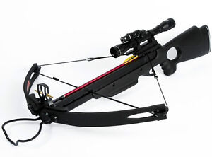 150-lb-lbs-Black-Compound-Hunting-Crossbow-Bow-Archery-Arrows-Bolt-180-175-80-50