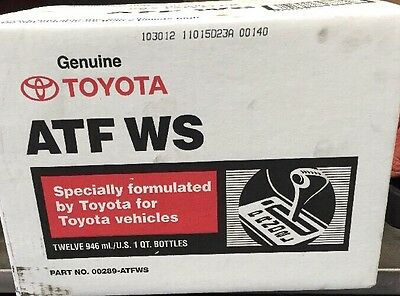 toyota Lexus Scion atf ws World Standard Transmission Fluid   Case 00289-atfws