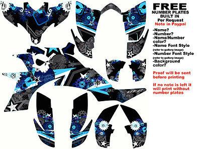 DFR SUBCULTURE GRAPHIC KIT BLACK/BLUE FULL WRAP YAMAHA YFZ 450 YFZ450