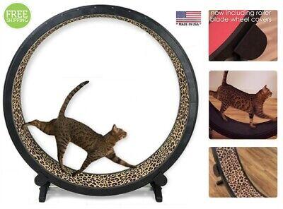 Indoor Cat Exercise Wheel Kitty Training Running Toy Treadwheel Treadmill Pet
