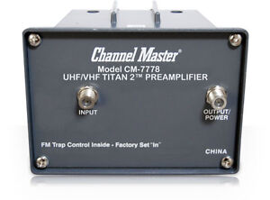 Channel-Master-UHF-VHF-Titan-2-Preamplifier-TV-Antenna-Amplifier-Booster-CM-7778