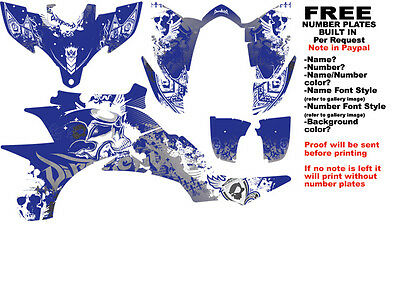"YFZ450 Graphics DFR ""Fold"" Blue Sides Fenders Yamaha YFZ450 ATV Decal Wrap"