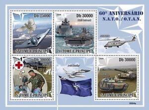 60 Years of NATO plane war military Sao Tome 2009 m/s MNH Mi. 4098-4101 #ST9304a - Olsztyn, Polska - 60 Years of NATO plane war military Sao Tome 2009 m/s MNH Mi. 4098-4101 #ST9304a - Olsztyn, Polska