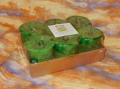 Money 6 Votive Candles Box NEW Crystal Journey Charged Herbal bring Good fortune