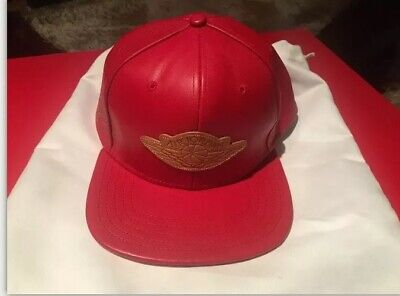 Don C Nike Air Jordan Just Don Red Leather Gold Buckle Strapback Hat 2 II Beach