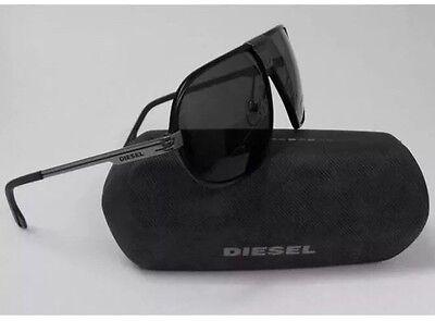DIESEL DL0067/S 02A SUNGLASSES MATTE BLACK PLASTIC SMOKE LENSES AUTHENTIC 67