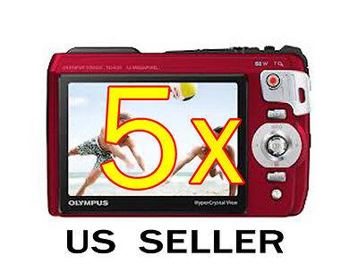 5x Olympus (Tough TG-820) Clear LCD Screen Protector Guard Shield Film