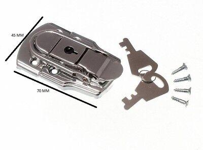 6 x chiusura a leva per bauli SERRATURA CASSAPANCHE & 2 CHIAVI 72mm 45mm cp
