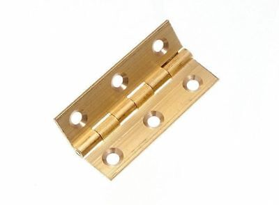 - *LOT OF 12 X BUTT HINGES EXTRUDED SOLID BRASS 50MM AND SCREWS 11G1