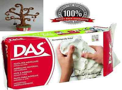 White Modelling Clay Air Art Craft Pottery Drying DAS Air-Dry Moist 1kg Sampling