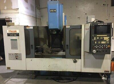 Used Mazak Vtc-16b Cnc Vertical Mill 1995 M-32b 44.16.20 8000 Rpm 24 Tools
