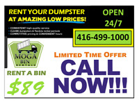 Bins for Rent ... Garbage and Junk Removal Services