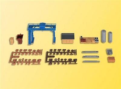 Kibri Freight Yard Accessory Set  - Kit - Z Gauge - 36696