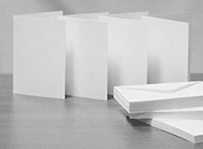 A5 C5 White Creased Cards and Envelopes by Cranberry Pack of 20